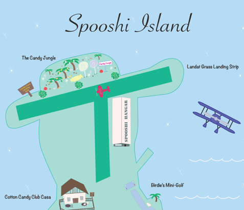 Spooshi Island Today