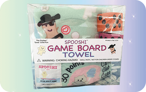 Spooshi Full Color Game Board Towel Kit/Large Dice